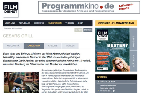 Filmdienst: Cesars Grill