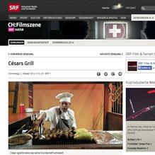 Cesars Grill im Schweizer Fernsehen